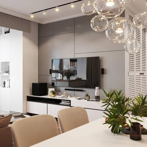 ایده های مسکونی - دیوار TV