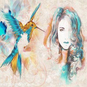 پوستر3بعدی طرح نقاشیب پروان دکور (144)