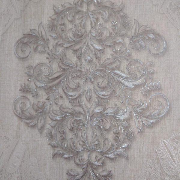 کاغذ دیواری نقره ای