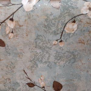 کاغذ دیواری شاخه ای آبی